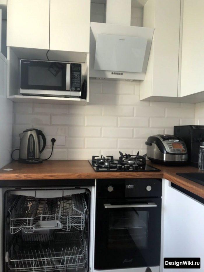 кухня в хрущевке 6 кв м дизайн
