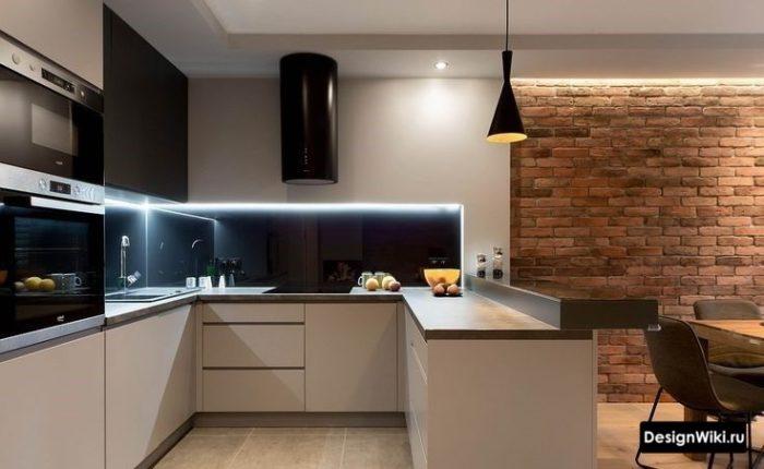 кухня п образная дизайн