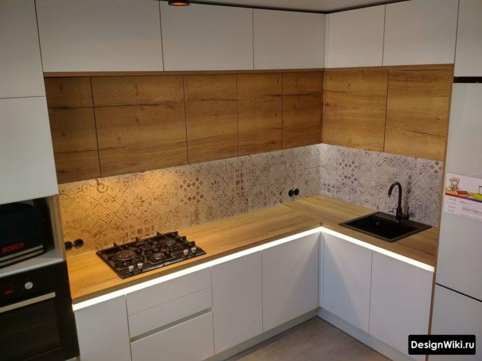кухня с угловой мойкой дизайн
