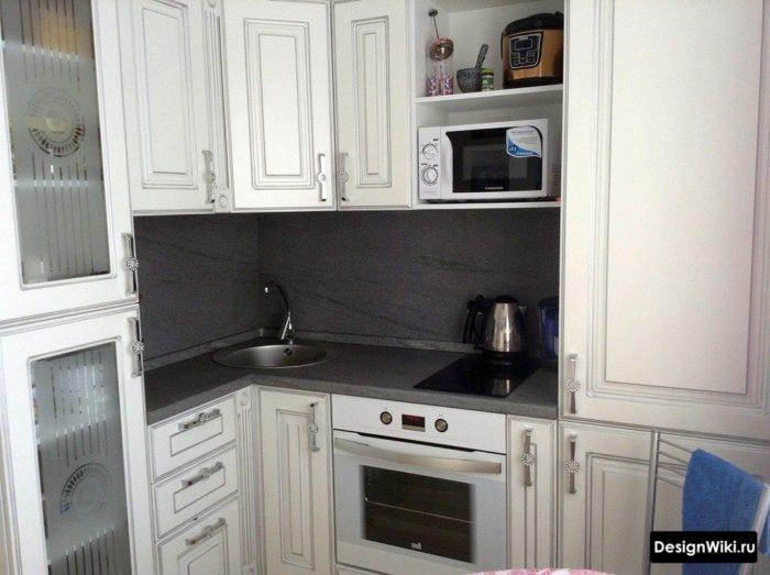 кухня 6 кв метров дизайн с холодильником в хрущевке
