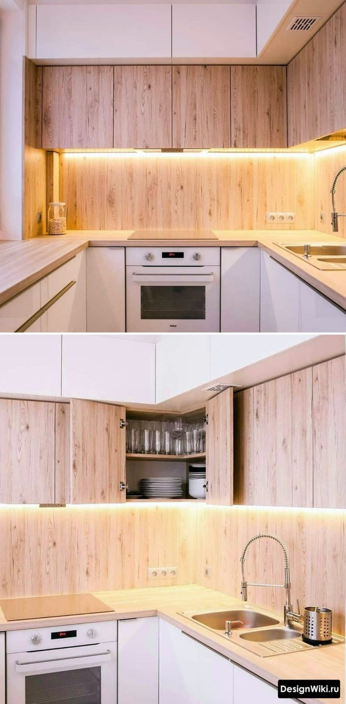 кухня 6 кв метров идеи до потолка