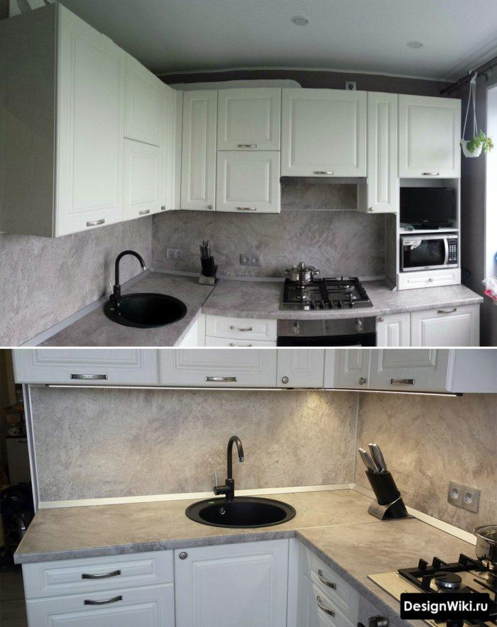 кухонный гарнитур для маленькой кухни 6 кв