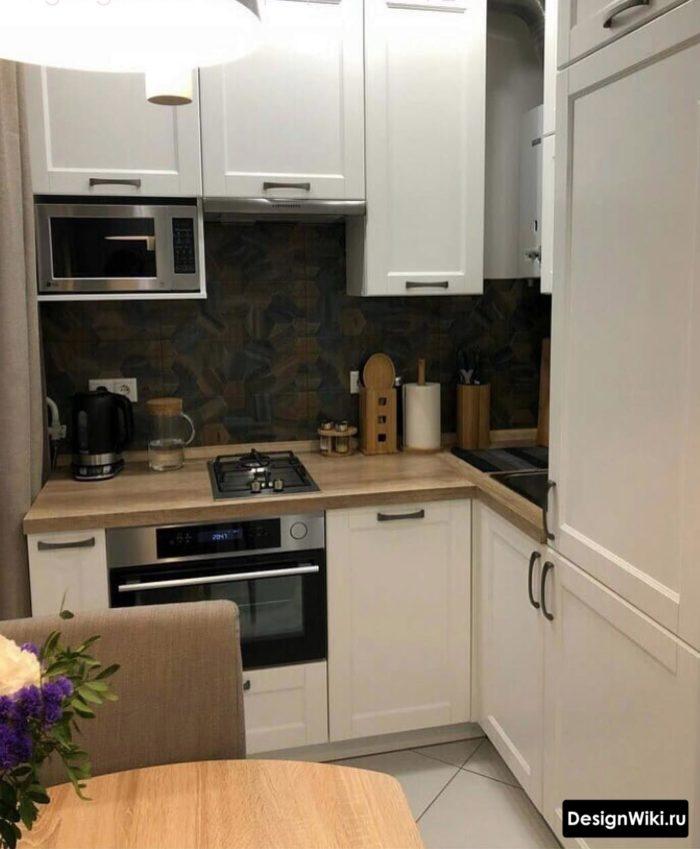 кухонный гарнитур для маленькой кухни 6