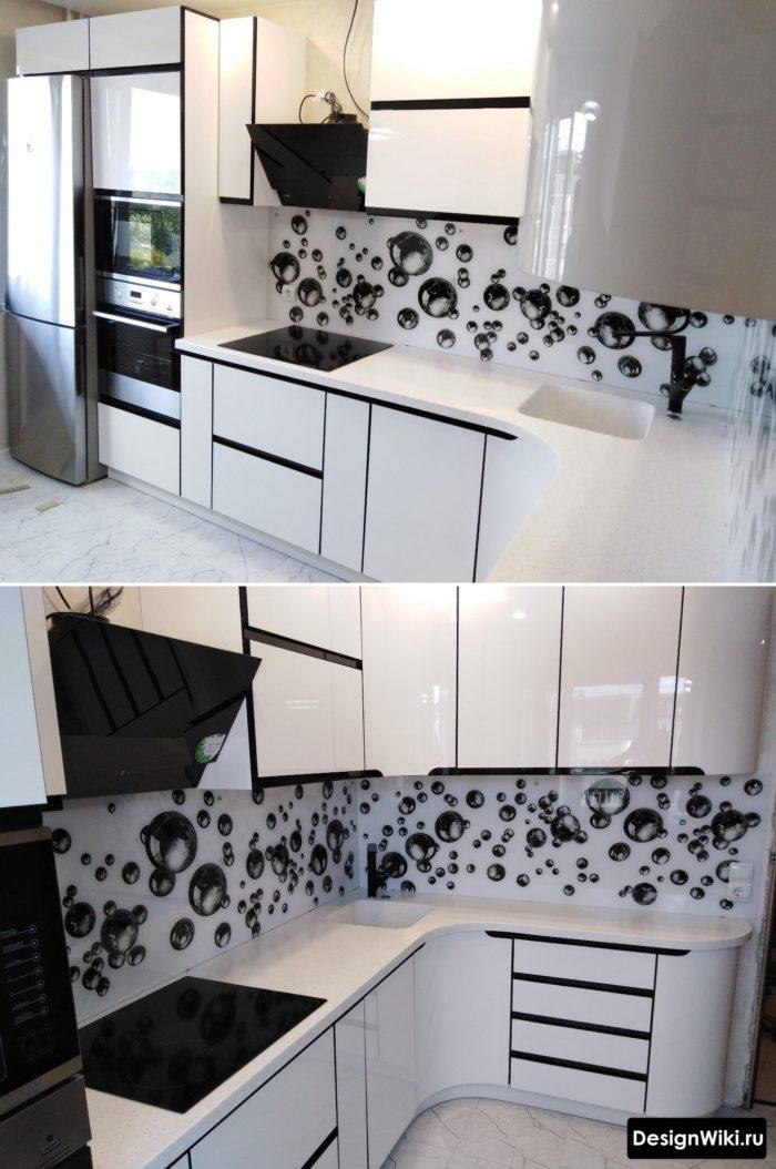 маленькая кухня дизайн 6 кв м с холодильником