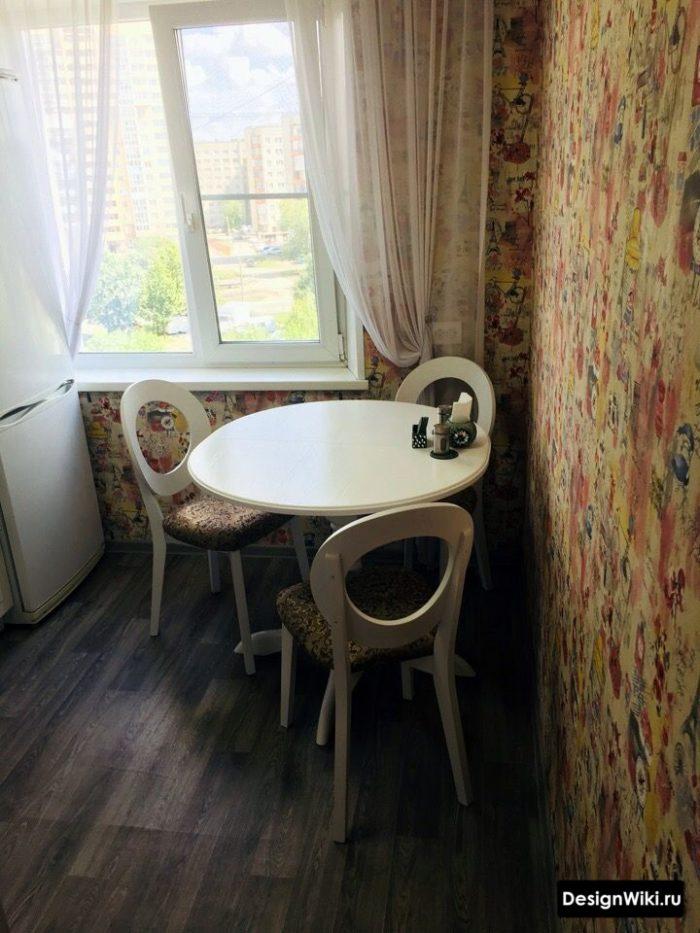 маленькая кухня дизайн 6 кв