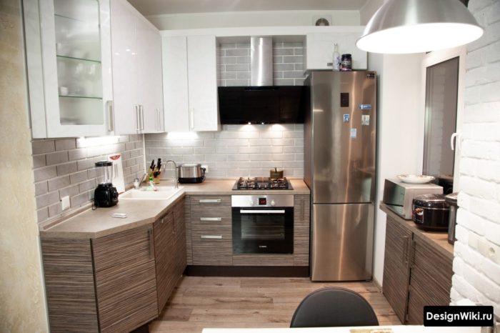 маленькие кухни 6 кв м