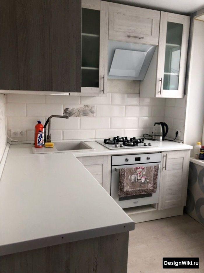 планировка кухни 6 метров