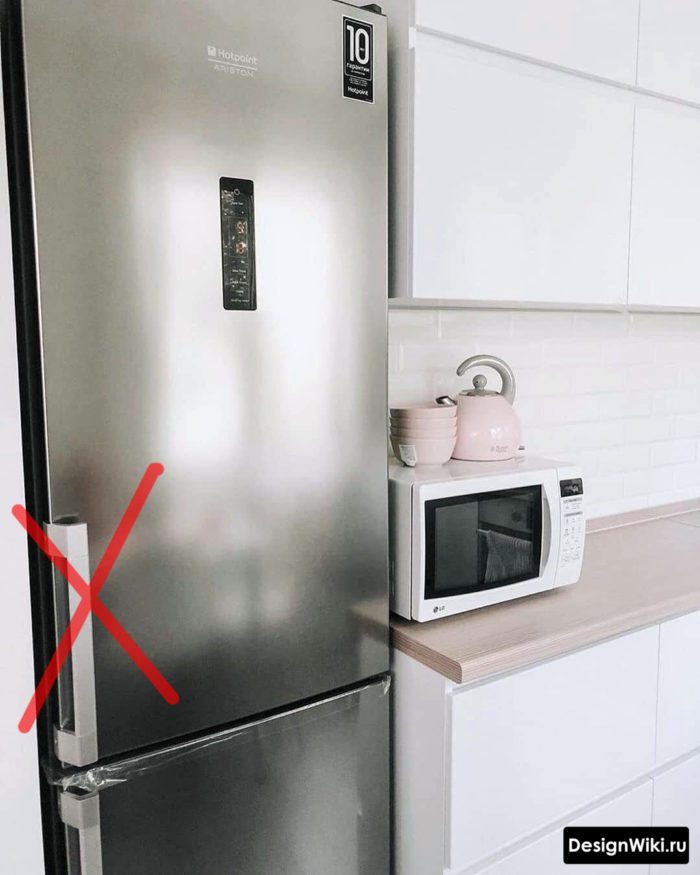 проект кухни 6 кв м с холодильником
