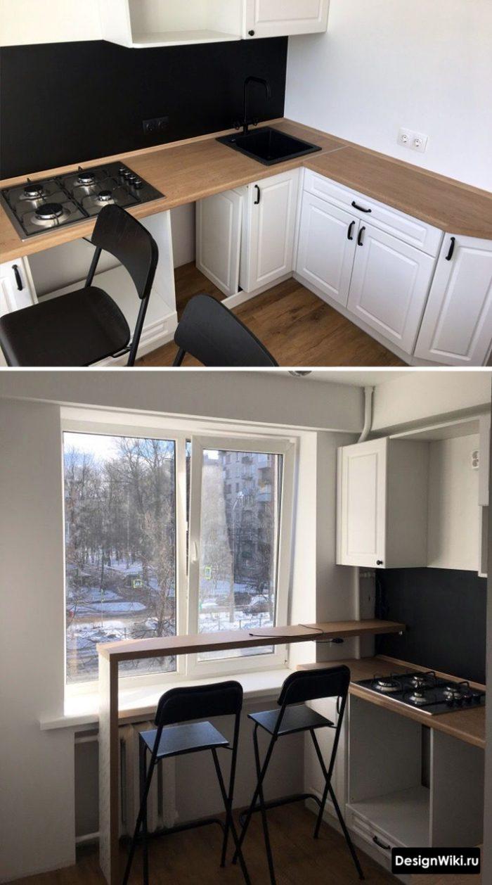 кухня для хрукухня 6 кв метров с барной стойкойщевки 5 6 кв