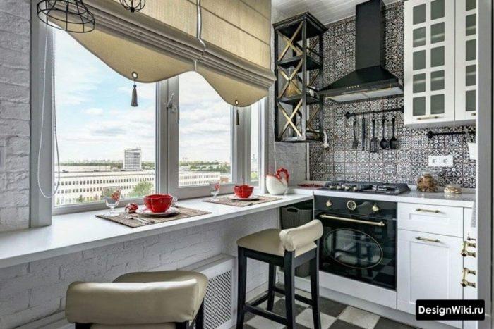 п образная кухня дизайн без окна