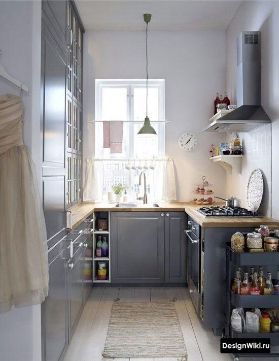 п образная кухня без окна