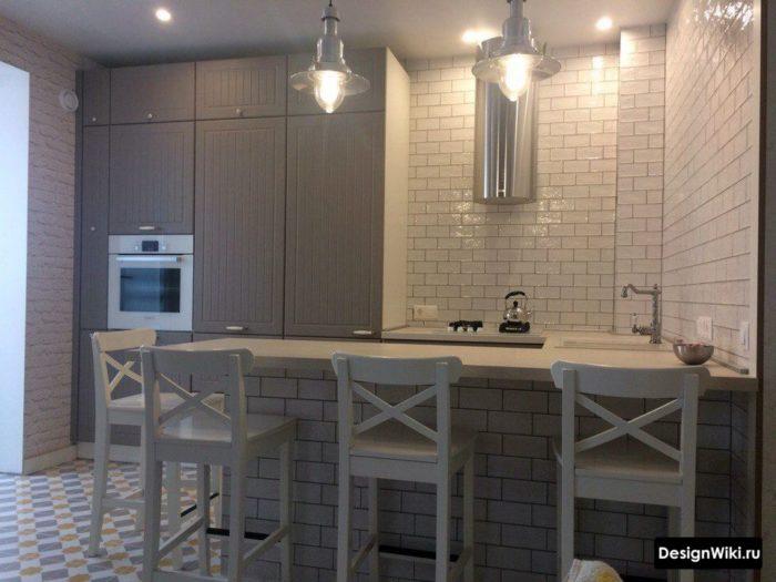 п образная кухня на 5 кв м
