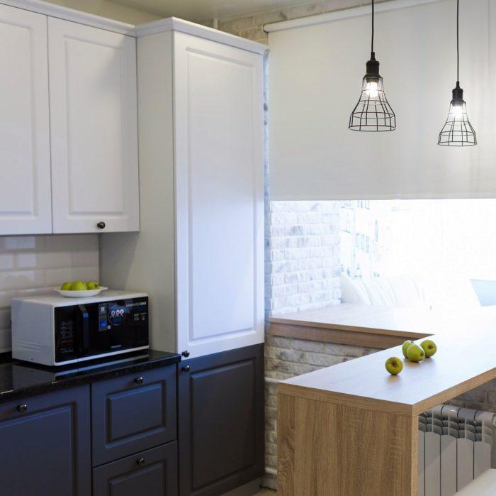 п образные кухни с окном