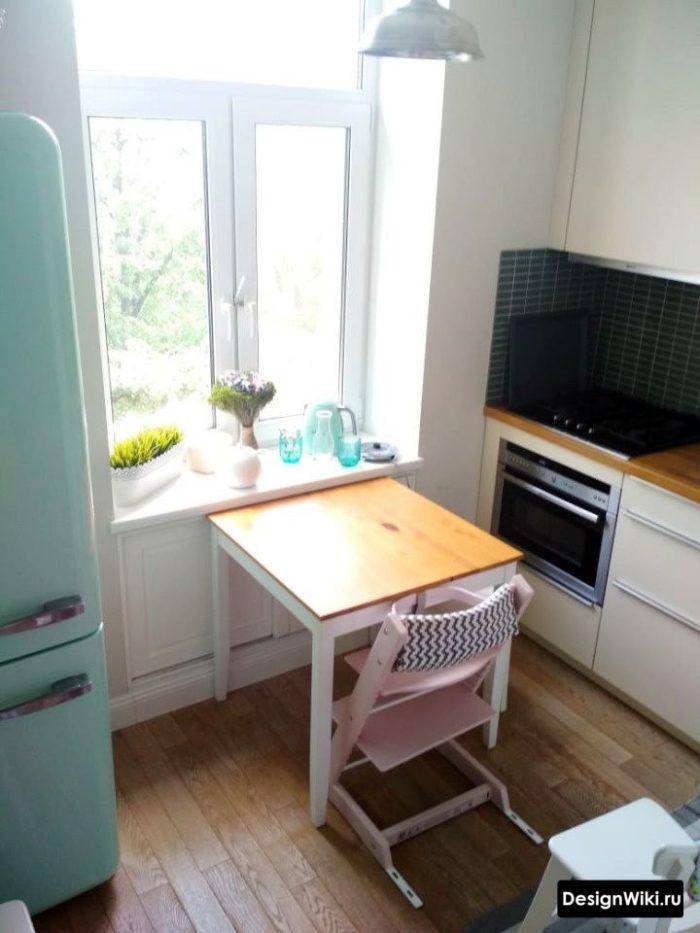 размеры кухни в хрущевке 6 кв план