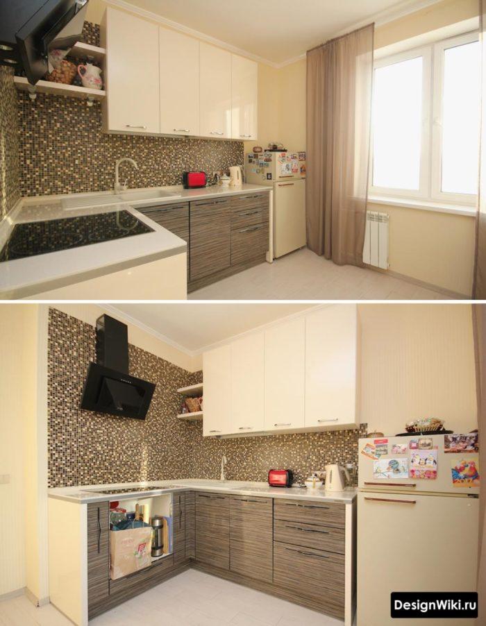 угловые кухни на 9 кв метрах