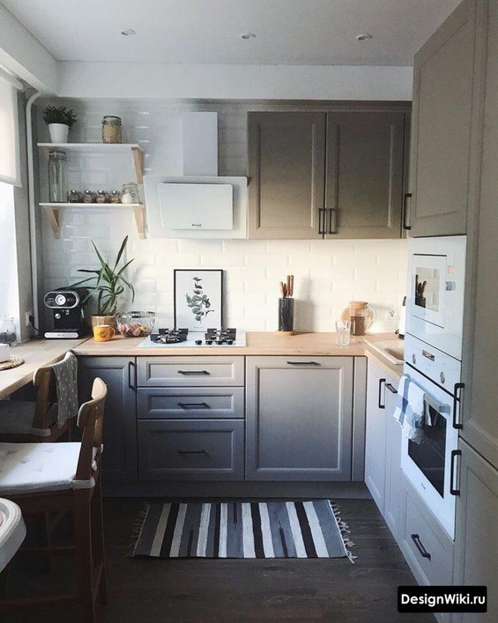 варианты отделки кухни 9 кв м