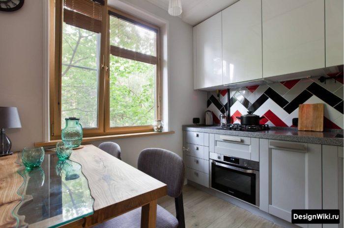 дизайн кухни в квартире 9 кв