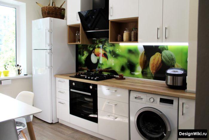 дизайн кухни с балконом 9 кв м