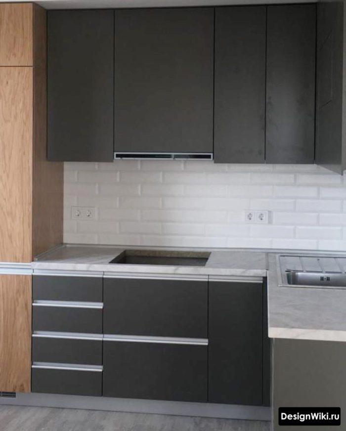 дизайн кухни 9 кв метров в панельном доме