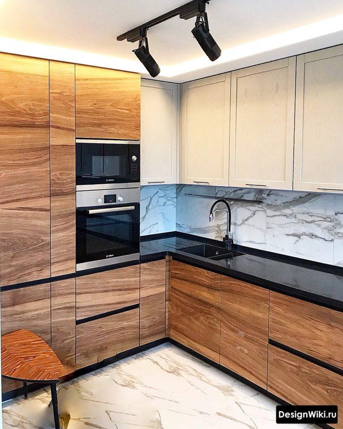 дизайн кухни 9 кв м в панельном доме с окном