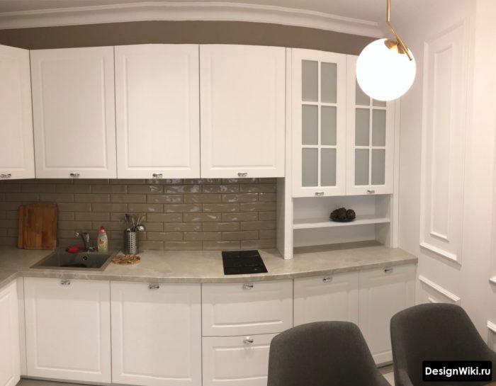 дизайн кухни 9 кв м с диваном