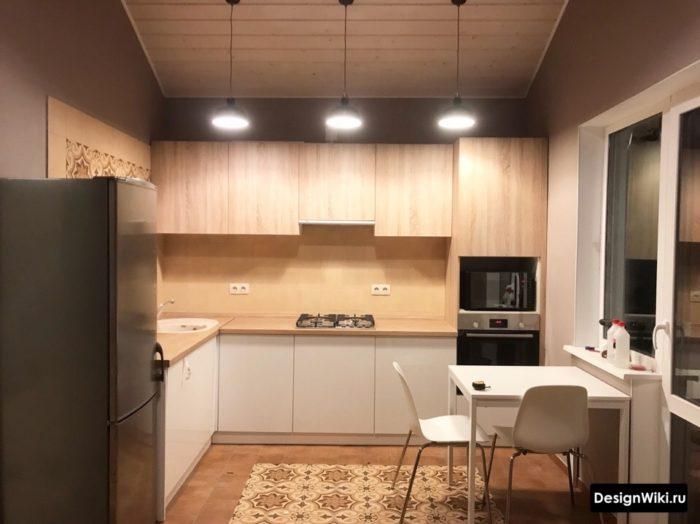 дизайн кухни 9 кв м2