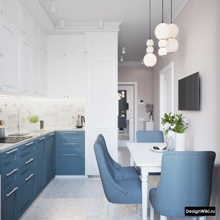 дизайн кухни 9 кв с балконом