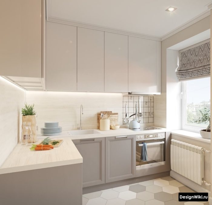 дизайн маленькой кухни 9 кв м