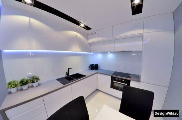 интерьер кухни 9 кв м в панельном доме