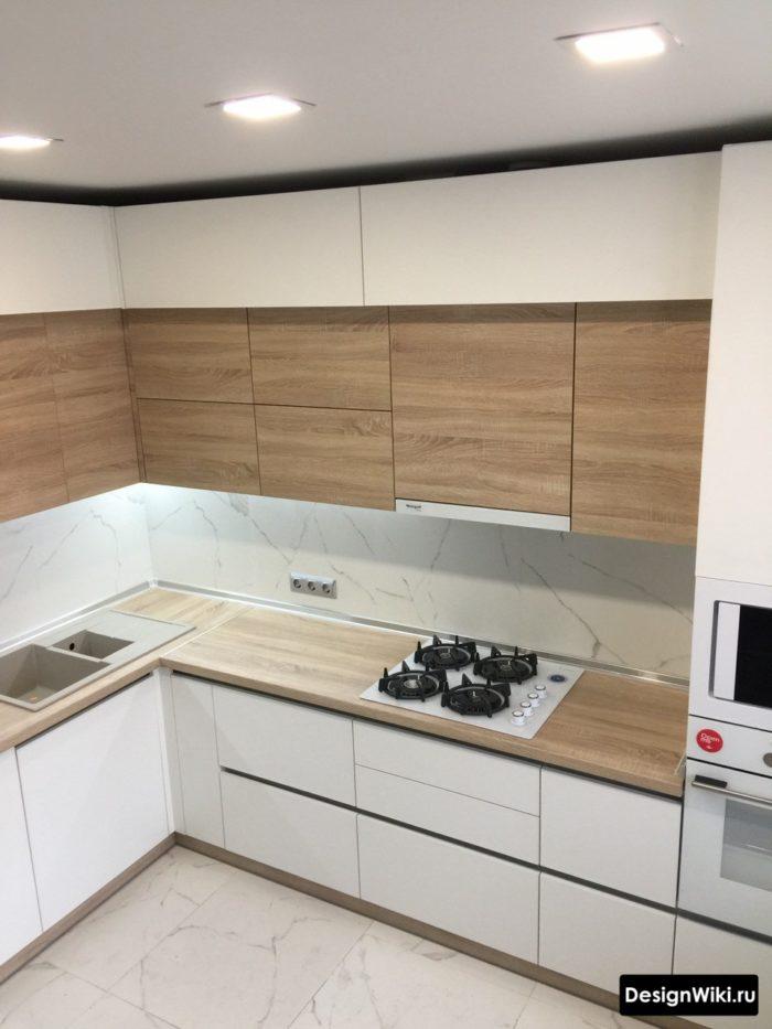 интерьер кухни 9 кв м в современном стиле