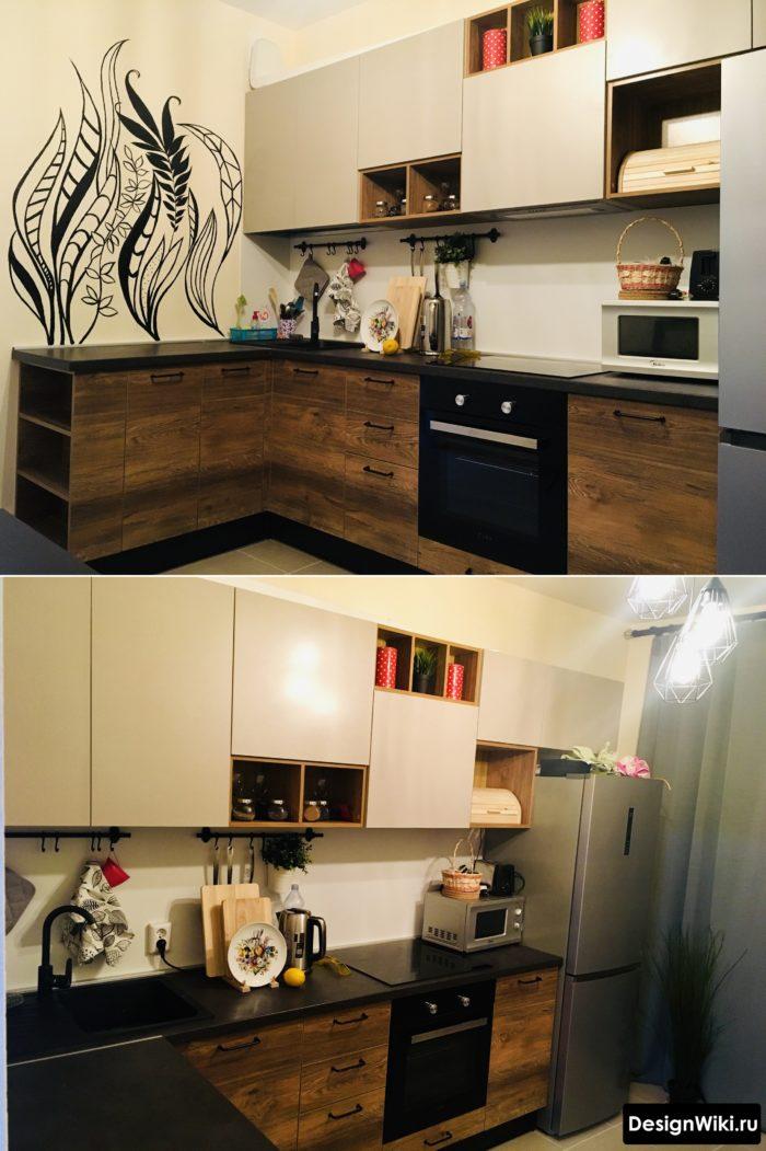 кухни дизайн проекты 9 кв метров
