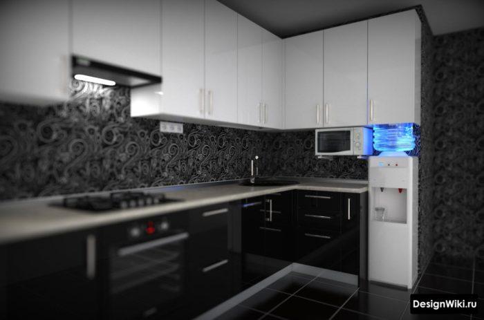 кухня в панельном доме 9 м2 планировка и дизайн