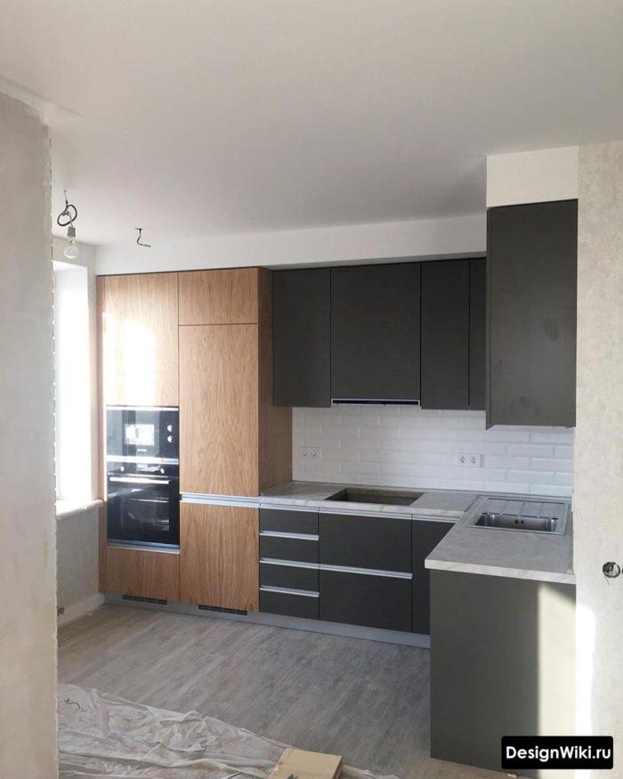 кухня в скандинавском стиле интерьер 9 кв м