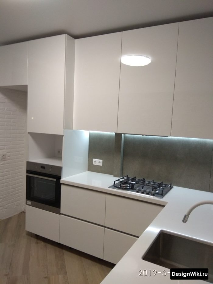 кухня угловая 9 кв м дизайн