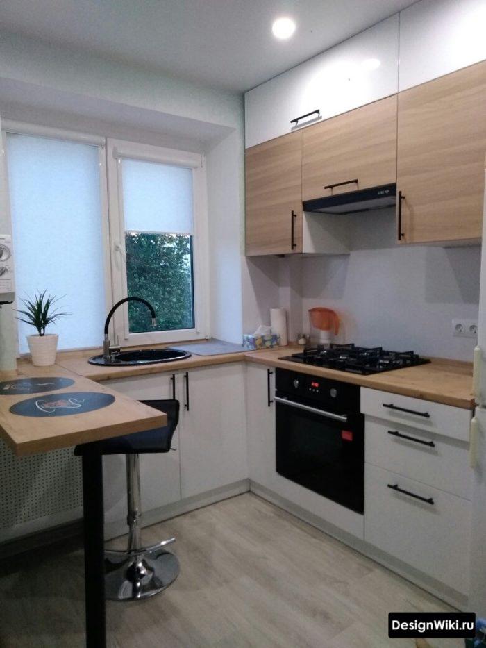 кухня 9 кв метров дизайн