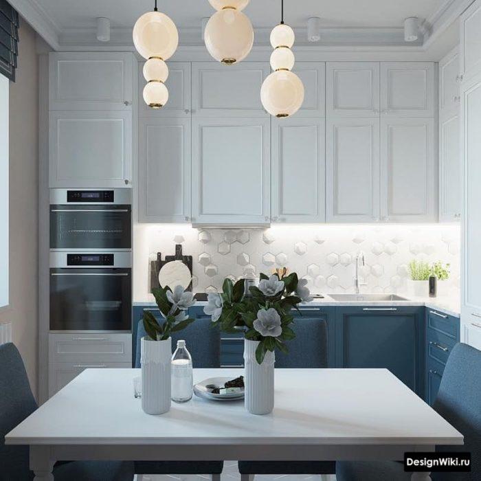 кухня 9 кв метров с диваном