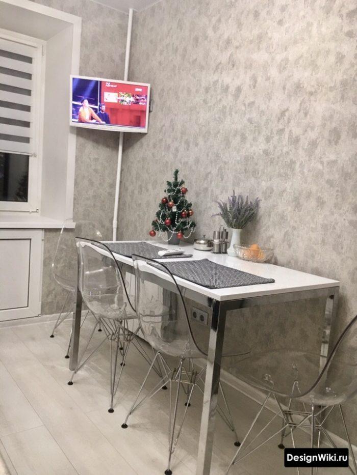 кухня 9 кв м с диваном