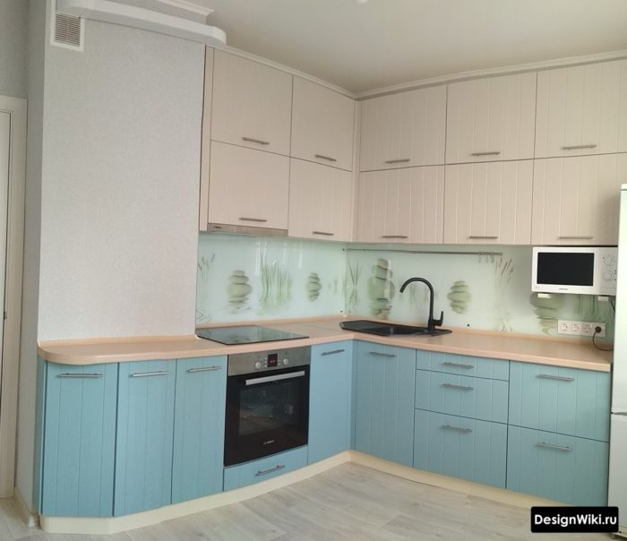 кухня 9 м2 планировка и дизайн с холодильником