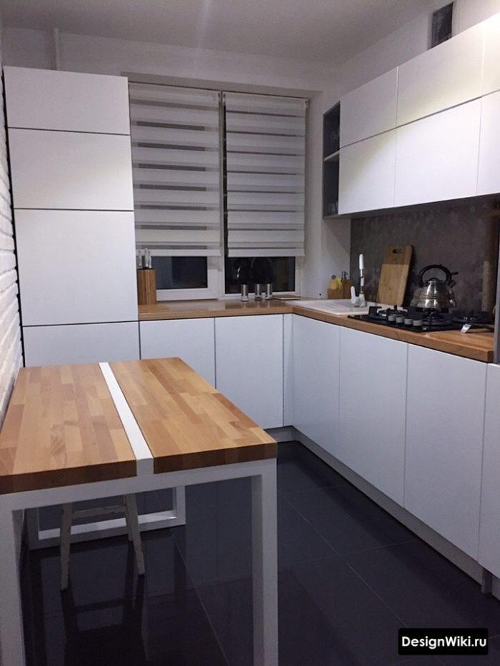 проекты кухни 9 кв м