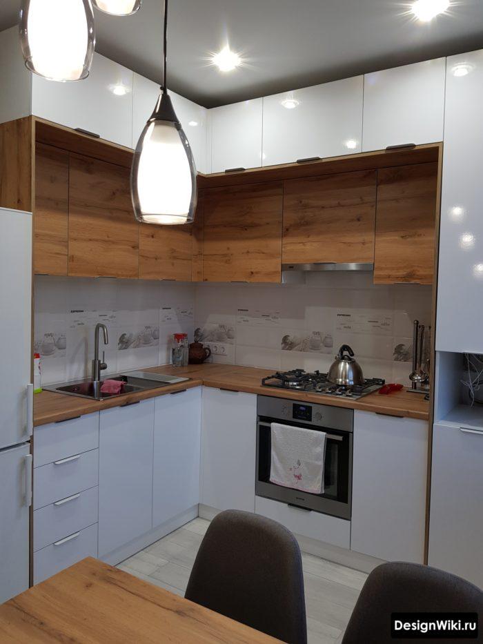 расстановка мебели на кухне 9 кв м