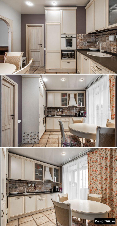 дизайн штор для кухни классика