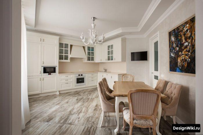 классическая кухня в современном интерьере