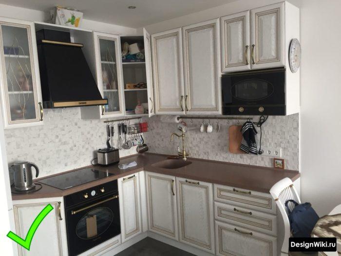 классическая мебель для кухни