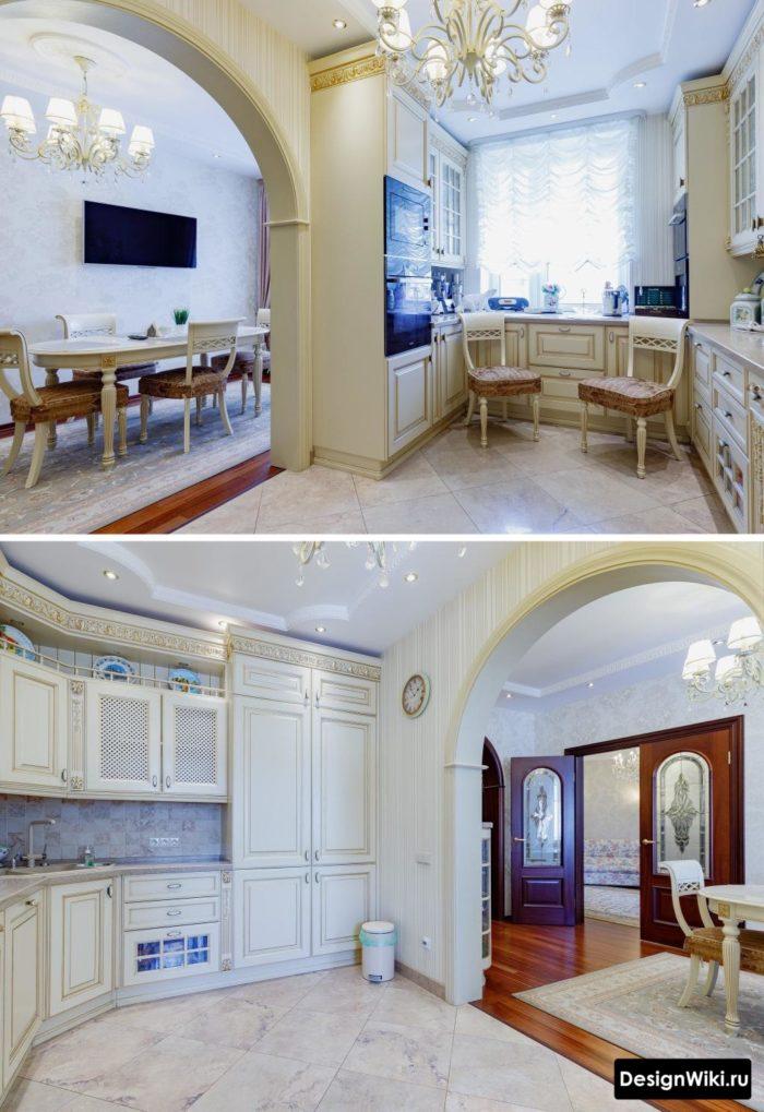 классические кухни в современном стиле
