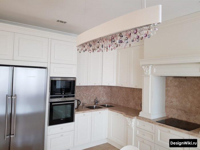 кухни классика белые с аркой