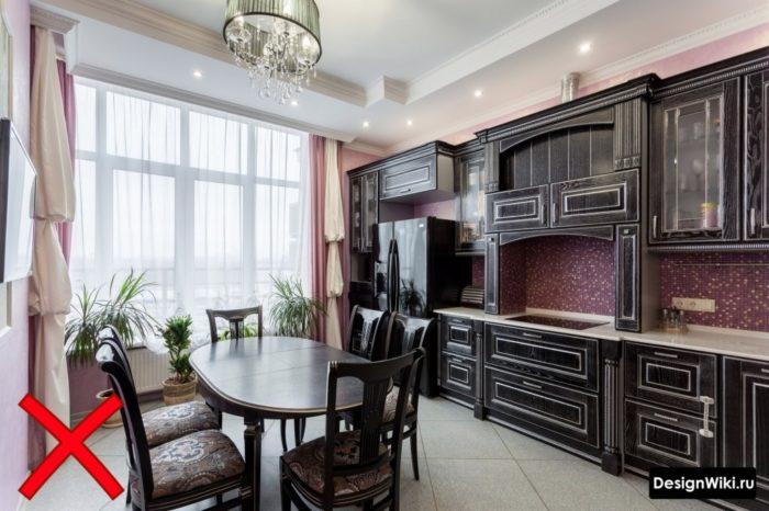 кухня белая классика