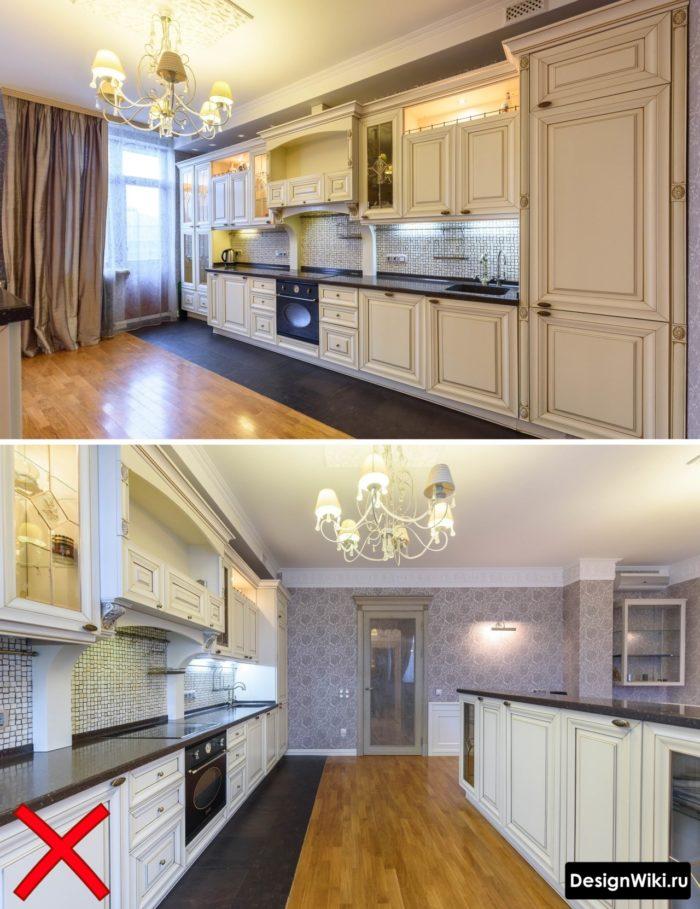 кухня в классическом стиле интерьер