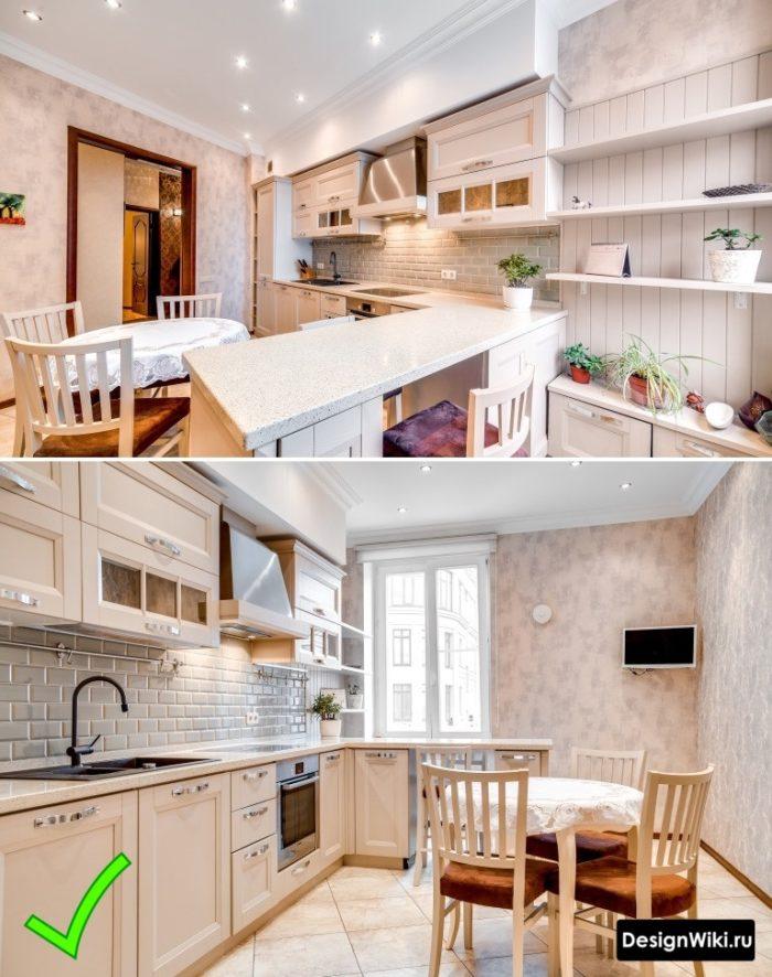 кухня в стиле классика интерьер