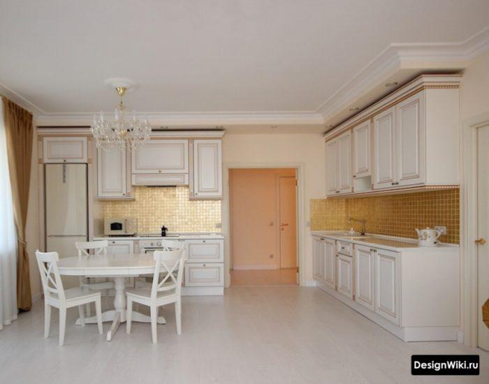 кухня гостиная современная классика