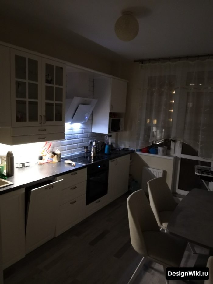 декоративное освещение в кухне 10 кв м